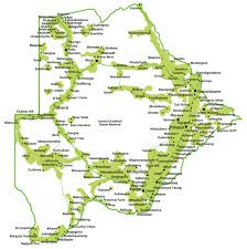 Botswana Map Bemobile Ke Ya Rona
