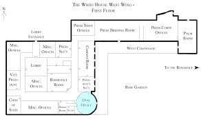 Floor Plan Of A House With Dimensions File White House West Wing 1st Floor With The Oval Office