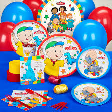 caillou party supplies the official pbs kids shop caillou standard party pack 16 guests