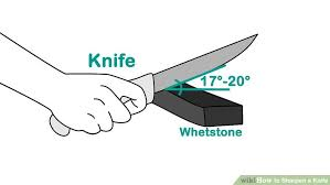 3 ways to sharpen a knife wikihow