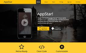 appstar responsive landing page bootstrap portfolio and resume