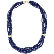 sapphire bead necklace images Diamond and sapphire bead jewelry suite for sale at 1stdibs jpg