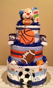 Sports Baby Shower Centerpieces by Sports Theme Baby Shower Decorations Sports Theme Diaper Cake By
