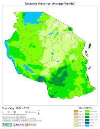 Tanzania Map Products Early Warning And Environmental Monitoring Program