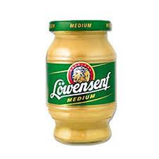 lowensenf mustard lowensenf medium mustard 8 45 oz 250g jar yellow