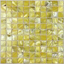 backsplash for yellow kitchen yellow sea shell mosaic of pearl tile kitchen backsplash