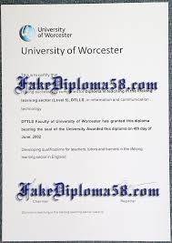 university of worcester certificate sample fakediploma58