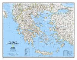 National Geographic Map National Geographic Maps Greece Classic Wall Map Wayfair