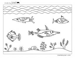 fish outline coloring page free printable designs by joel underwater fish design