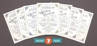 vintage wedding program template put a wedding invitation designer in your back pocket