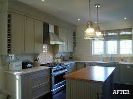 A BuilderBasic Kitchen Goes Bedford Gray Hooked On Houses - Basic kitchen cabinets