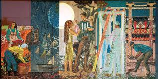 Home Savings by Historic Southern California Bank Mosaic Murals By Millard Sheets