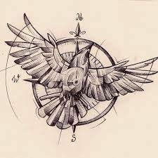 compass tattoo sketch pictures to pin on pinterest tattooskid