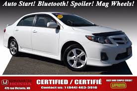 toyota us1 used 2012 toyota corolla s auto start bluetooth spoiler mag