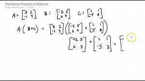 commutative and distributive properties of matrices youtube