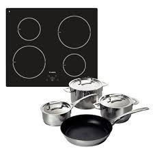 offerta piano cottura induzione bosch kit pie611b10j piano cottura induzione set di pentole