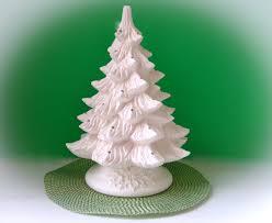 ceramic tree unpainted bisque with leaf