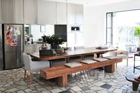 Contemporary Dining Room Table Waternomicsus - Dining room tables with a bench