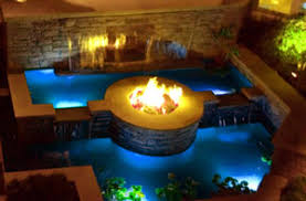 Glass For Firepit Awesome Firepit Waterfall And Pools Future Home Pinterest