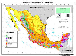 Maps Mexico by Mexican Forest Map Mexico U2022 Mappery