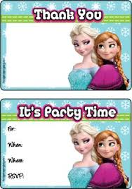 free frozen birthday party invitations frozen birthday party