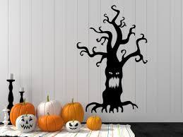 halloween decal halloween wall decal spooky tree decal tree