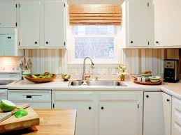 kitchen white kitchen cabinet with white mosaic tiled backsplash