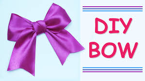 ribbon bow diy make simple easy bow of satin ribbons how to make a ribbon