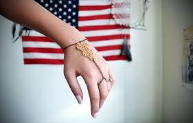 diy hand bracelet images Diy golden lace slave bracelet all the good girls go to heaven JPG