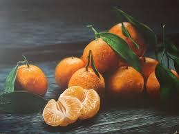 peinture orange cuisine tableau peinture clémentines fruit orange cuisine clémentines