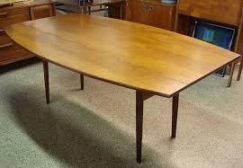 mid century walnut dining table drexel parallel vintage mid century modern dining table dining