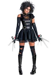 womens miss edward scissorhands movie costume fancydress com