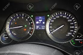 infiniti q70l infiniti q70l hybrid speed dashboard stock photo picture and