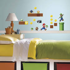 amazon com roommates rmk2351scs nintendo super mario build a amazon com roommates rmk2351scs nintendo super mario build a scene peel and stick wall decal 45 count home kitchen