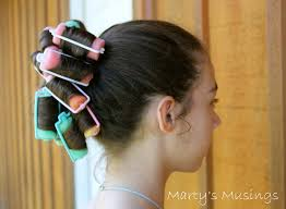 fast and easy hair using sponge rollers