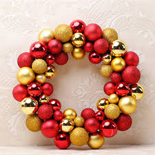 colorful balls wreath door wall ornament garland home