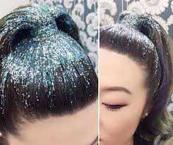 sparkly hair glitter hair trends go viral gemma styles glitter hair and hair