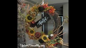 fall grapevine wreath tutorial youtube