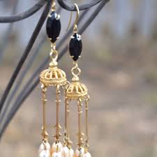 and pearl chandelier best gold and pearl chandelier earrings products on wanelo