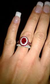 ruby engagement rings ruby and diamond engagement ring wedding band ringspotters