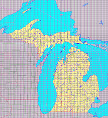 Map Michigan Michigan 1 24 000 Topographic Map Index