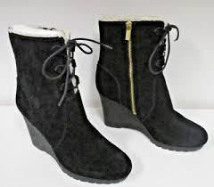 michael kors s black rory suede ankle boots size 9 1 2