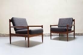 canap e 60 paire de fauteuil gris scandinave teck vintage design annees 50 60