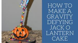 make a halloween cake how to make a gravity defying jack o lantern cake youtube
