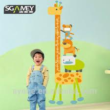 stickers girafe chambre bébé girafe sticker mural hauteur échelle mesure autocollant pour chambre