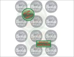 printable jar label sheets hot chocolate mix favor tag printable silver mason jar label