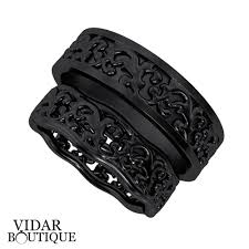 unique matching wedding bands his and hers black gold matching wedding bands his and hers vidar boutique