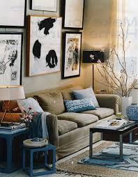 bedroom alluring blue and brown living room decor ideas yellow