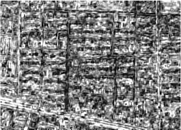 urban damage estimation using statistical processing of satellite