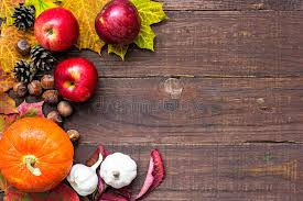harvest or thanksgiving background with autumnal fruits and